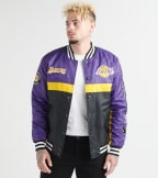 Unk  Lakers Satin Jacket  Purple - GOM7718FLL-PUR | Jimmy Jazz