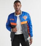 Unk  Knicks Satin Jacket  Blue - GOM7718FNY-RYL | Jimmy Jazz