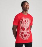 Industrial Indigo  Crystal Stone 3D Skull Tee  Red - ITNKT033-RED | Jimmy Jazz