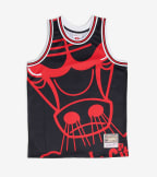 Mitchell And Ness  Big Face Jersey Bulls  Black - MSTKBW19068-CHI | Jimmy Jazz