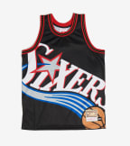 Mitchell And Ness  Big Face 76ers Jersey  Black - MSTKBW19068-PHL | Jimmy Jazz