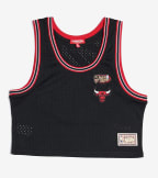 Mitchell And Ness  Chicago Bulls Mesh Crop Tank  Black - MSTKEL18124-CBUBLCK | Jimmy Jazz