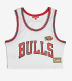 Mitchell And Ness  Mesh Crop Tank Bulls  White - MSTKEL18124-CBUWHIT | Jimmy Jazz