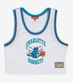 Mitchell And Ness  Hornets Mesh Crop Tank  White - MSTKEL18124-CHOWHIT | Jimmy Jazz