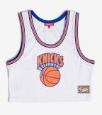 Mitchell And Ness  Mesh Crop Tank Knicks  White - MSTKEL18124-NYKWHIT | Jimmy Jazz