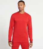 Polo  Brushed Jersey LS Fleece Crew  Red - PK55HF-JRD | Jimmy Jazz