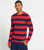 Polo  Rugby Camo Stripe Crew Thermal  Red - PW20HF-QET | Jimmy Jazz
