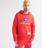 Champion  Century Pullover Chenille Patch Hoodie  Red - S4309550154-040 | Jimmy Jazz