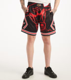Mitchell And Ness  Big Face Bulls Shorts  Black - SHORBW19069-CHI | Jimmy Jazz