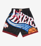 Mitchell And Ness  Big Face Short 76ers  Black - SHORBW19069-PHL | Jimmy Jazz