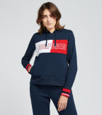 Tommy Hilfiger  Hoodie with Color Block and Embroidery  Navy - TP00223T-NVY | Jimmy Jazz