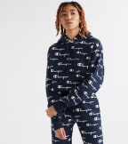 Champion  Revers Weave Cropped Cut Off Hood AOP  Navy - WL659P-9E | Jimmy Jazz