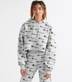 Champion  Revers Weave Cropped Cut Off Hood AOP  Grey - WL659P-9F | Jimmy Jazz