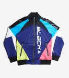 Black Pyramid  Colorblocked Tech Logo Track Jacket  Blue - YWU870174-BLU   Jimmy Jazz